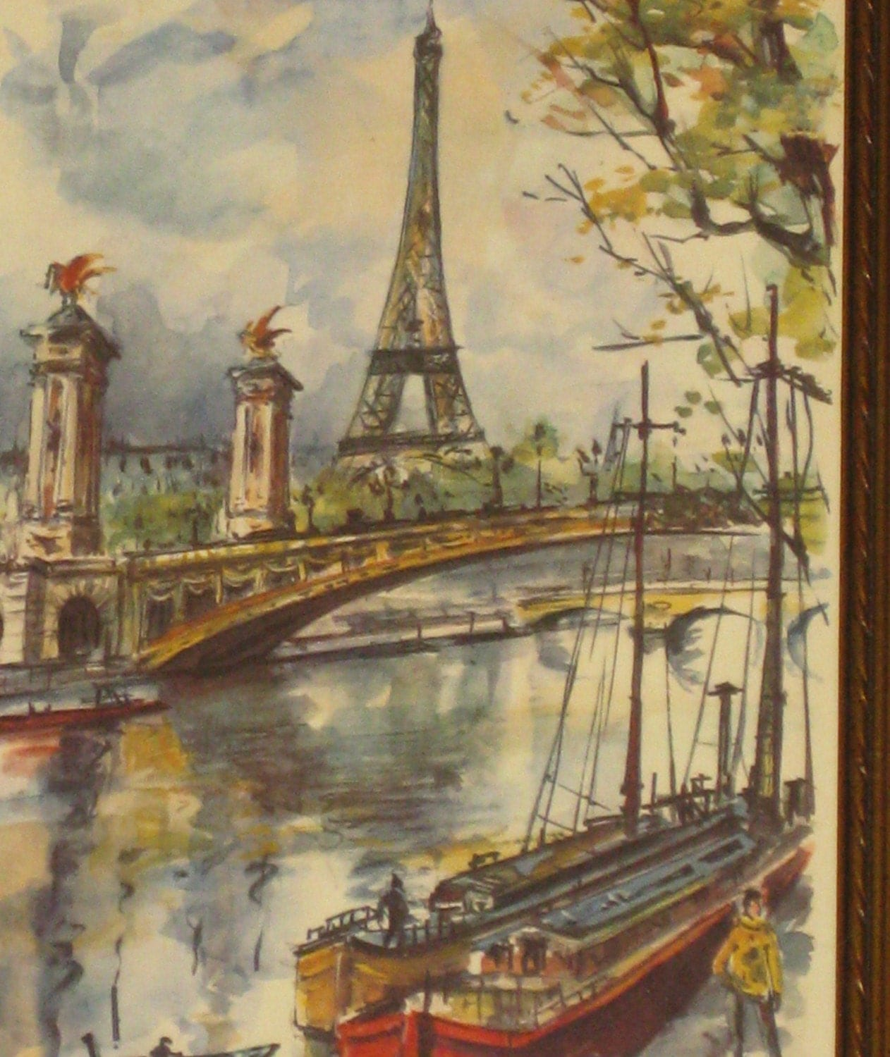 Il Ponte Wallet Paris Le Pont Alexandre Iii Watercolor Print By
