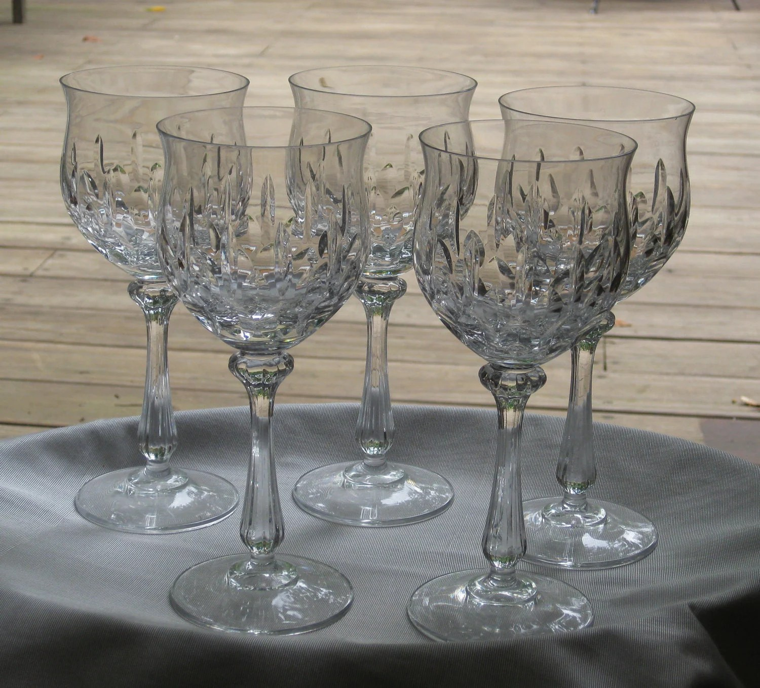 Crystal Stemware Wine Glasses Vintage Four Crystal Stemware Water Wine Goblets Mikasa