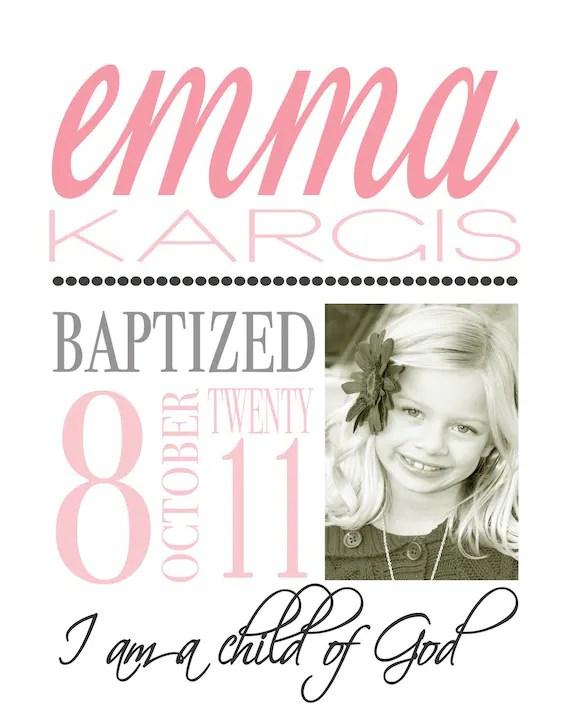 Baptism Announcement, LDS Baptism, Mormon, Primary, Latter Day Saint
