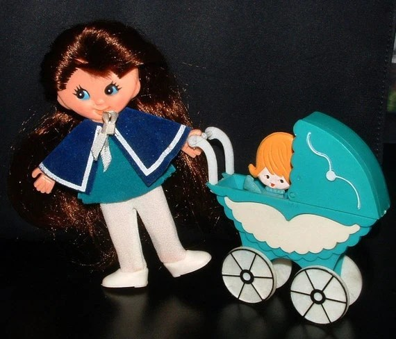 Doll Stroller Vintage Free Shipping Retro Nancy Nurse Flatsy Doll With Carriage