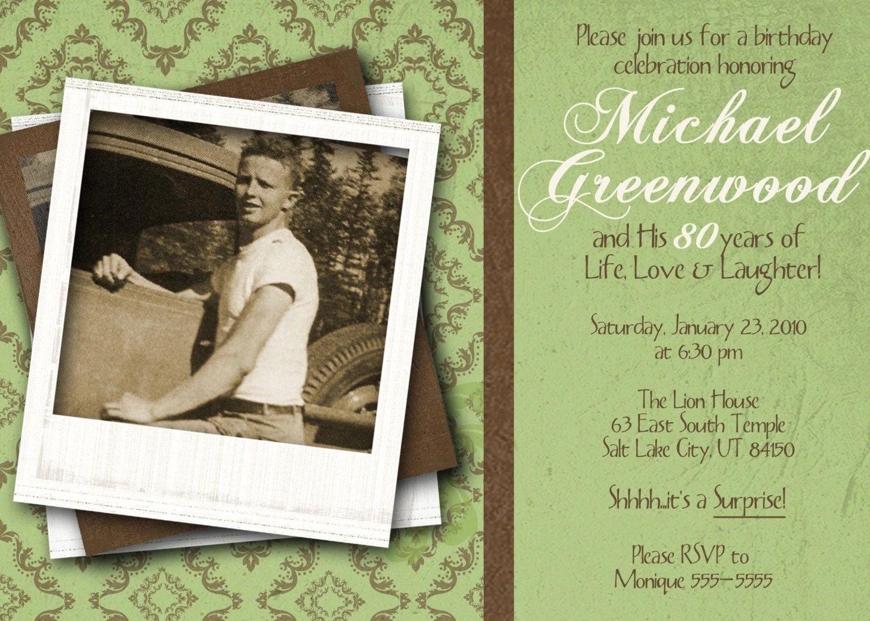 invitations 80th birthday celebration