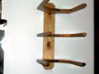 Cowboy Western Hat Rack Wall Mount for 3 Hats Quality Hand