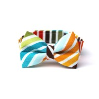 Baby Boy's Bow Tie Multicolor Stripe Brown Red Orange