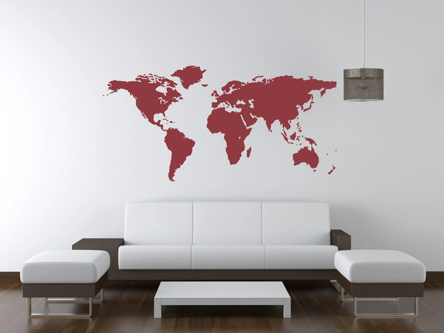 Gamma Fotobehang World Map World Map Wall Decal World Map Decal Dorm Decor