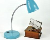 Vintage Aqua Gooseneck Desk Lamp