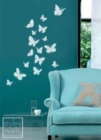 Butterflies Set of 16 Vinyl Wall Decal