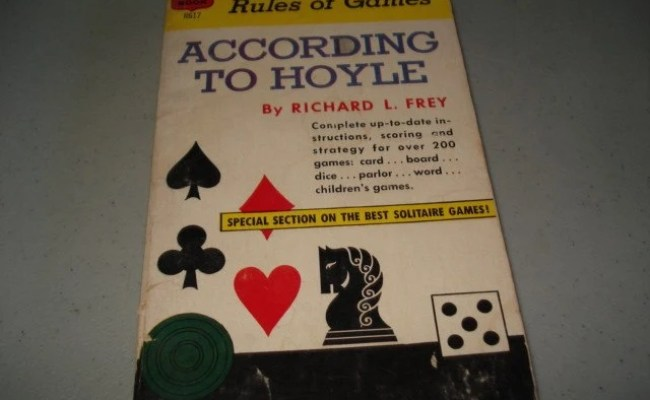 Vintage 1960s Book Card Poker Rules Of Games According To