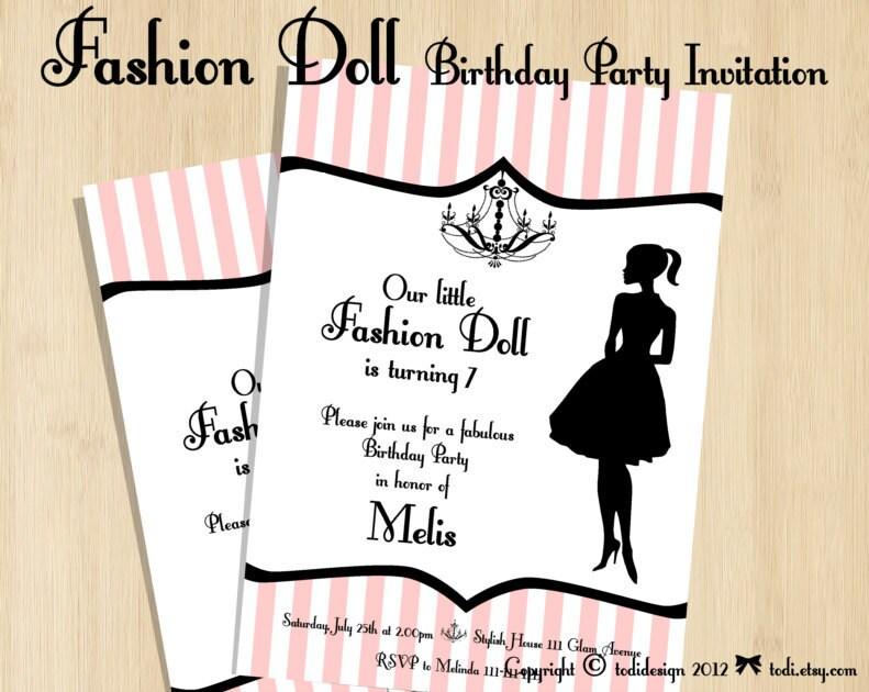 Fashion Show Birthday Party Invitation Wording | Invitationswedd.org