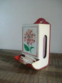 Vintage Tin Match Holder