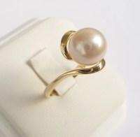 Pearl ring gold ring womens pearl engagement ring