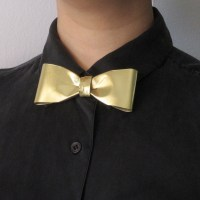 Brass Metal Bow Tie Pin