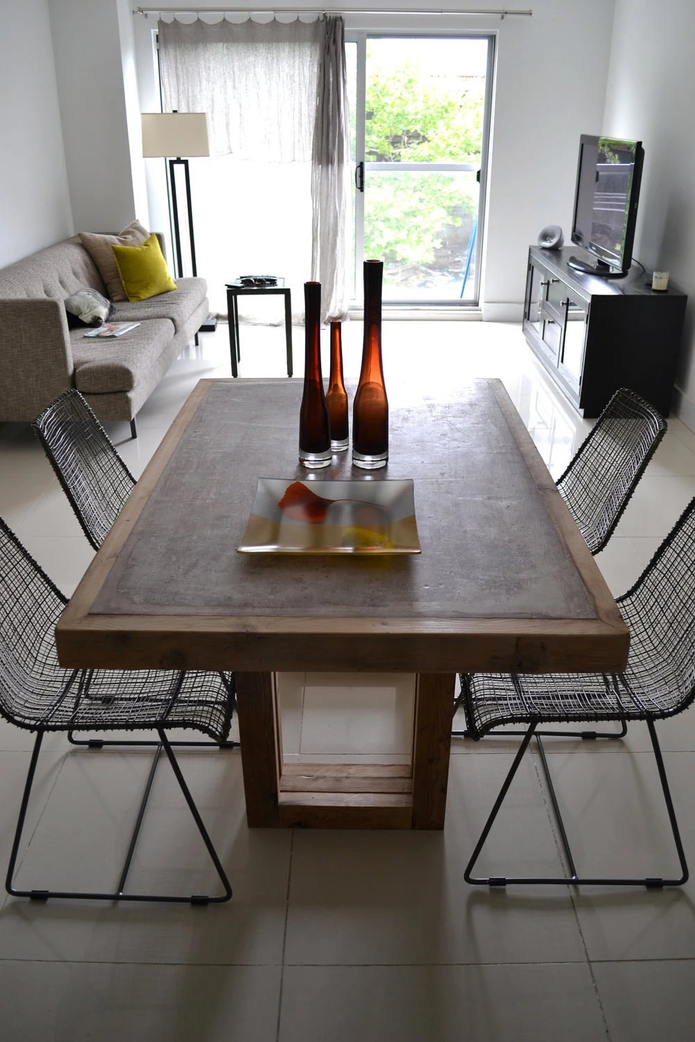 concrete dining table concrete and concrete kitchen table zoom