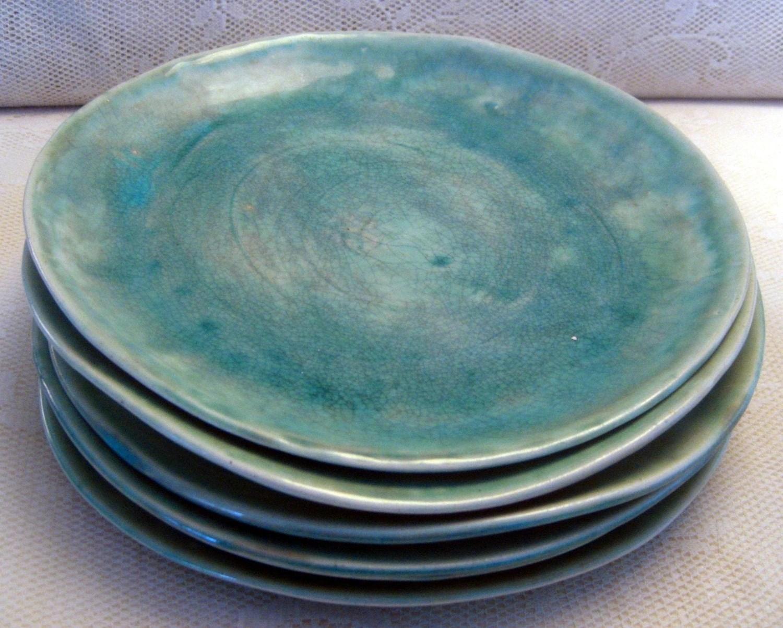 Handmade ceramic plates dinnerware Wedding gifts Set of 6