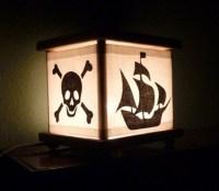 Pirate Lamp Pirate Night Light Lantern Nightlight Ship Octopus