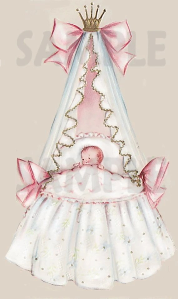 Baby Bassinet Cradle Vintage Baby Bassinet Image 3 Digital Printable Download