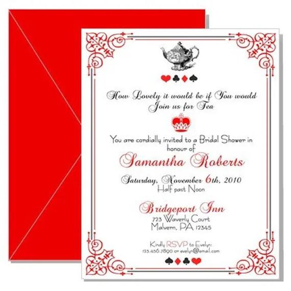 Mad Hatter Tea Party Invites - tea party invitation