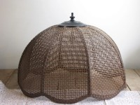 vintage natural woven swag lamp shade