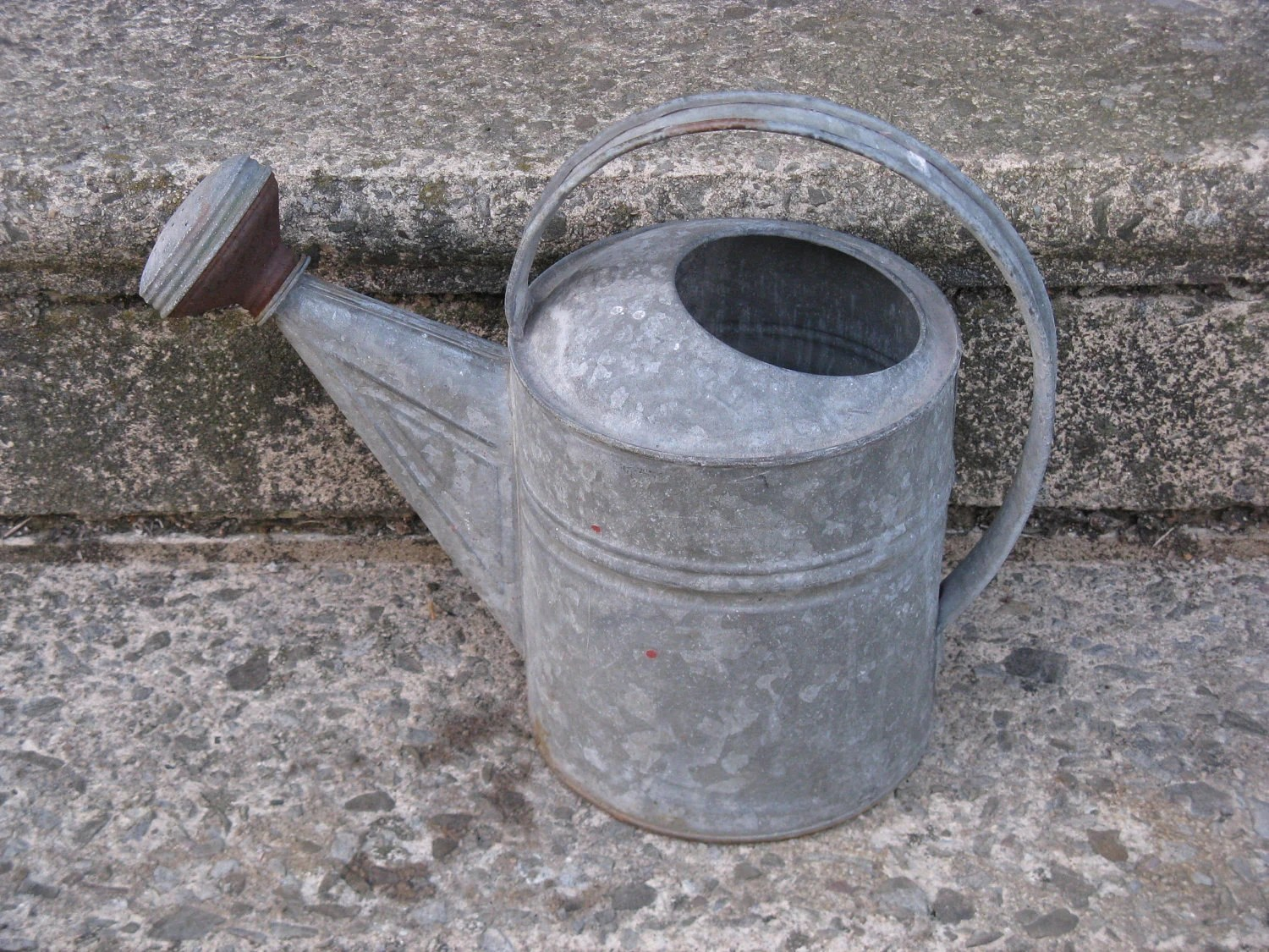 Grote Gieter Galvanized Watering Can With Spout Large Round By