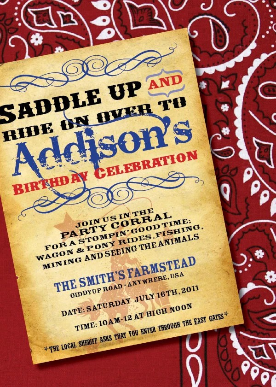 Diy Printable Cowgirl Or Cowboy Wild West Inspired Birthday