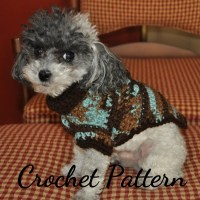 DOG SWEATER Crochet PATTERN Small Dog Sweater Crochet Dog