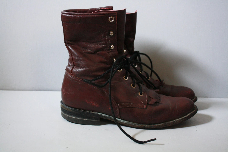 22 Lastest Red Combat Boots Women Sobatapkcom