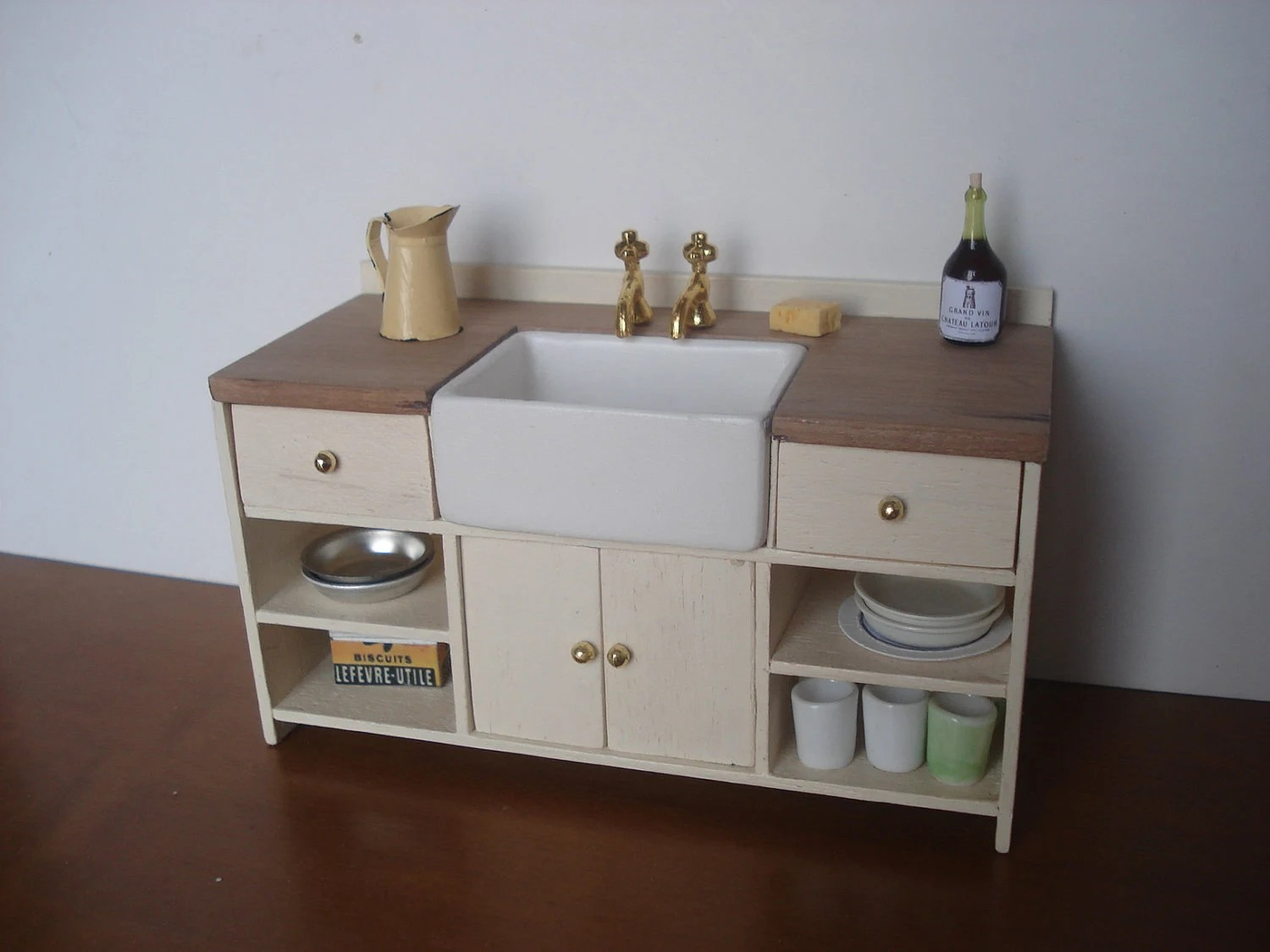 Items Similar To Miniature Kitchen Sink Cabinet On Etsy