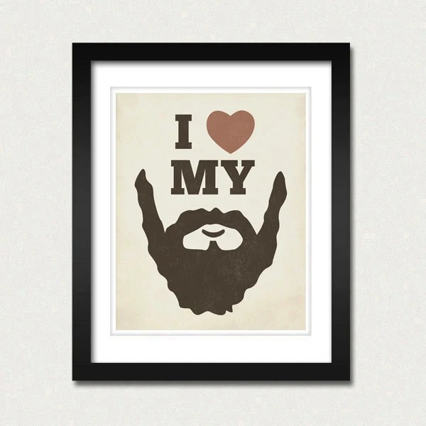 Beard Art I Love my Beard 8x10 Beard Art Print - invitation templates for microsoft word