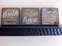 Scripture Art Home Decor Wall Art Faith.Hope.Love SET