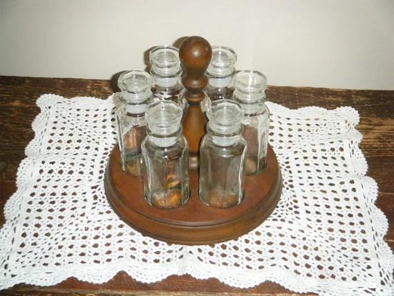 Cole Mason Wooden Spice Rack Glass Jars 6jar Home Sweet Home