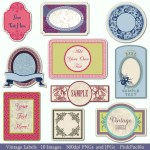 Labels Clip Art Clipart Vintage Tags Borders Frames By PinkPueblo