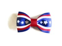 Items similar to Red, White, and Blue Bow Tie Hair Bow on Etsy