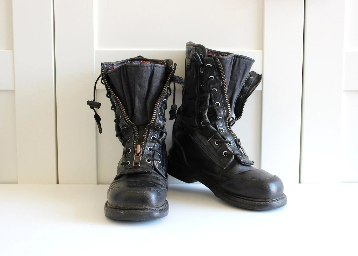 Womens Lace Up Boots No Zipper With Creative Photos In