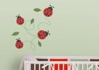 ladybug wall decals 2017 - Grasscloth Wallpaper