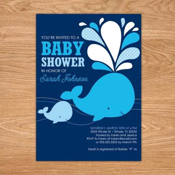 Blue Whale Baby Card by stampwithtrude - Cards and Paper Crafts at - baby shower template