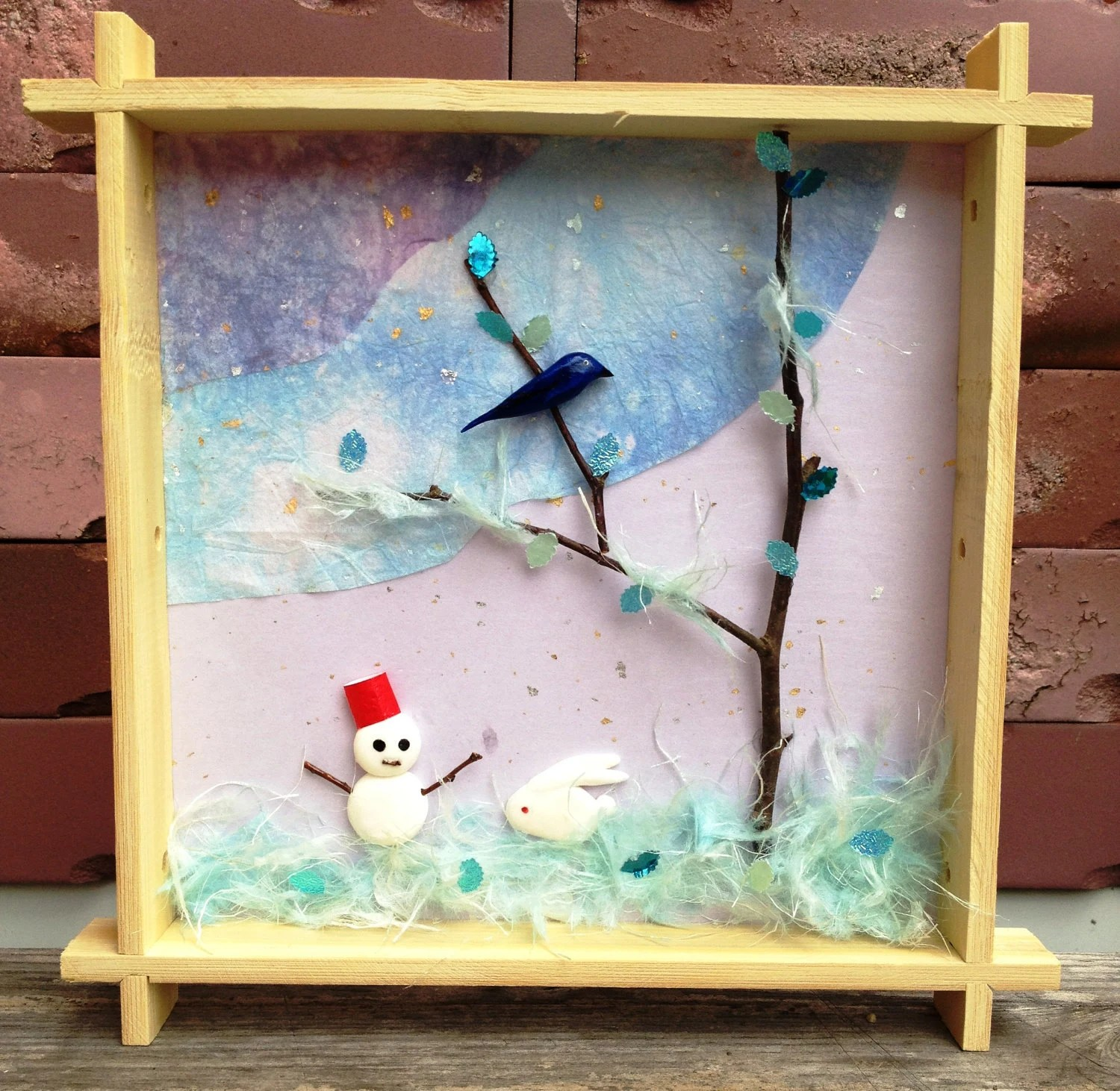 Reserved Item 3d Wall Art Shadow Box Art With Japanese