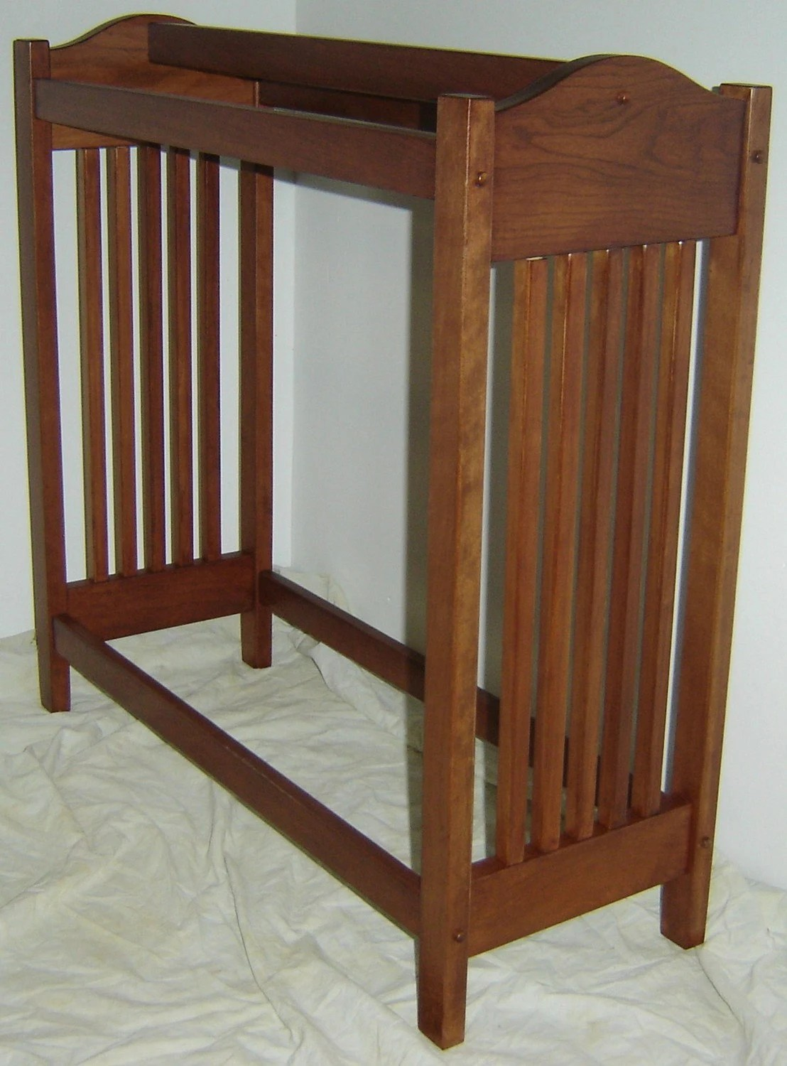 Blanket Rack Stand Antique Sewing Machine Base Turned
