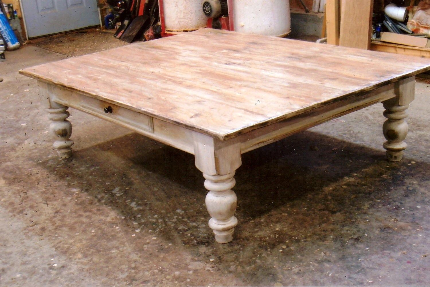 Farmhouse Coffee Table Etsy Farmhouse White Scrubbed Pine Coffee Table By Furnacebrookiron