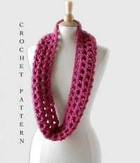 Easy Crochet Infinity Scarf Pattern Crochet by ...