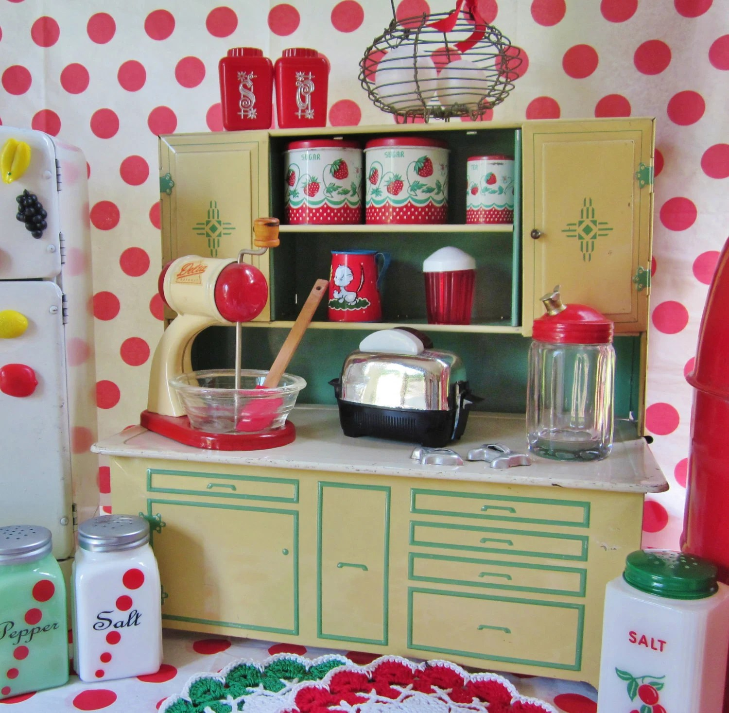 Kitchen Set Name Sale Vintage Tin Toy Kitchen Cupboard Green Play Child