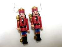 Nutcracker Toy Solider Earrings Red Holiday Christmas