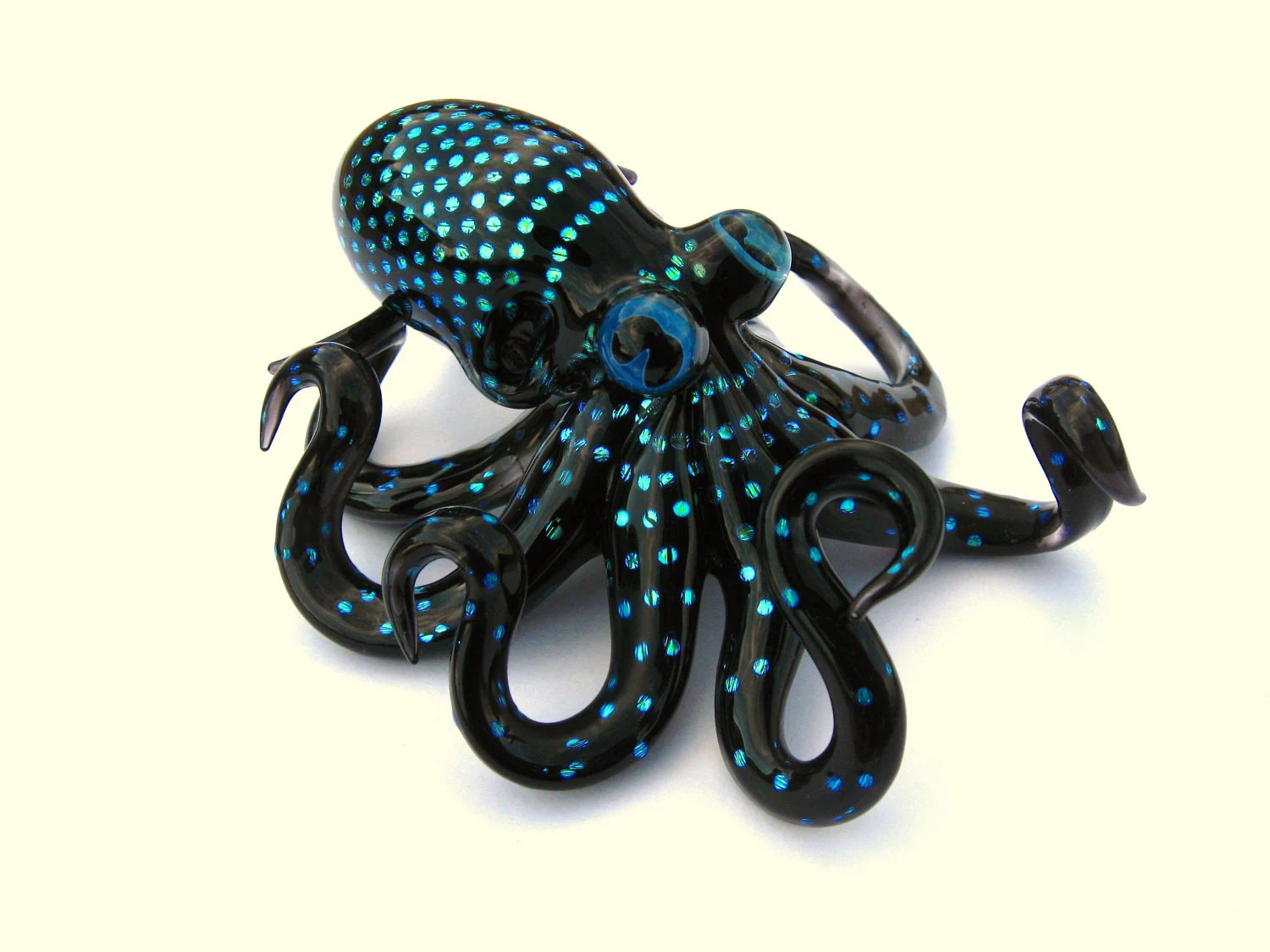 Octopus Glasses Large Solid Dichroic Glass Octopus Sculpture Free Shipping