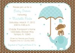 Elephant Boy Baby Shower Invitation Template