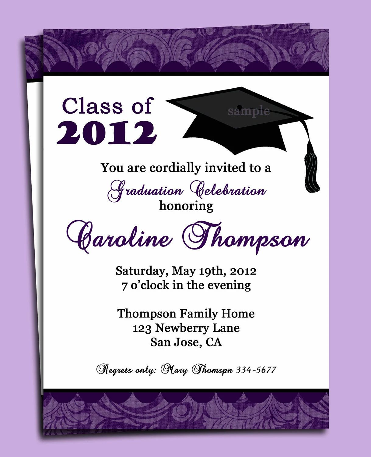 graduation invitation samples