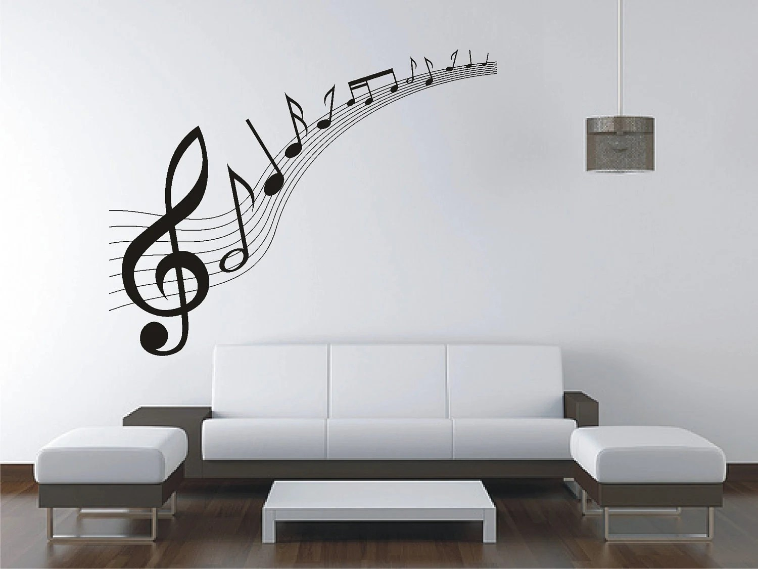 Vinyl Wall Decal Large Music Music Notes Wall Sticker Vinyl Decal Wall