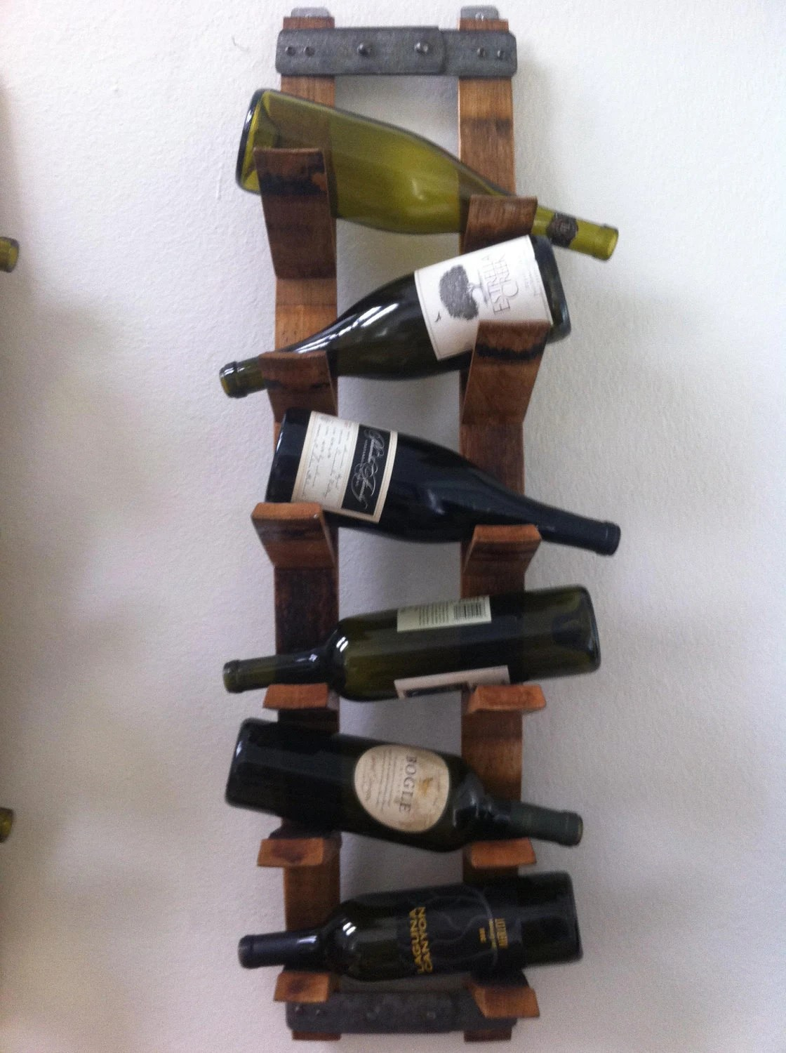 Small Wall Mounted Wine Rack Wall Mount Wine Rack By Fallenoakdesigns On Etsy