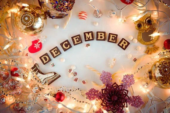 Cute November Calendar Wallpaper December Photography Print Merry Christmas Decor By