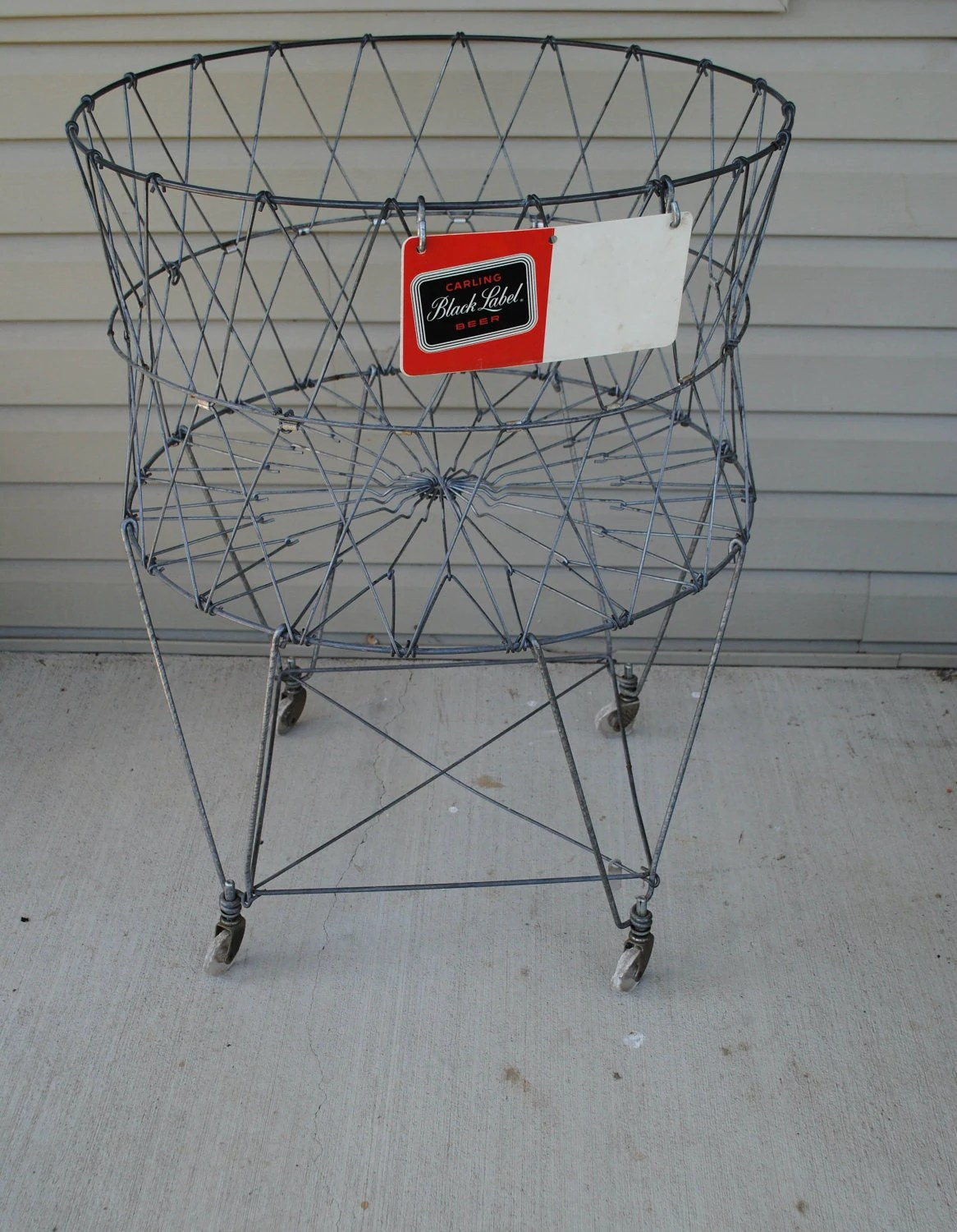 Wire Laundry Hamper On Wheels Vintage Wire Laundry Basket