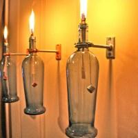 HARDWARE ONLY - 3 Wine Bottle Oil Lamp Kits - INDOOR