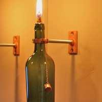4 Wine Bottle Oil Lamps INDOOR Hurricane by GreatBottlesofFire