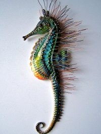 Seahorse art wall decor seahorse sculpture wall art